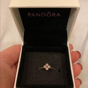 Pink Oriental Blossom Pandora Ring